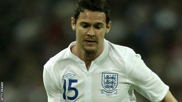 Matt Jarvis in action for England against Ghana in March 2011
