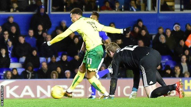 Josh Murphy's clinching strike at St Andrew's was his eighth goal of the season