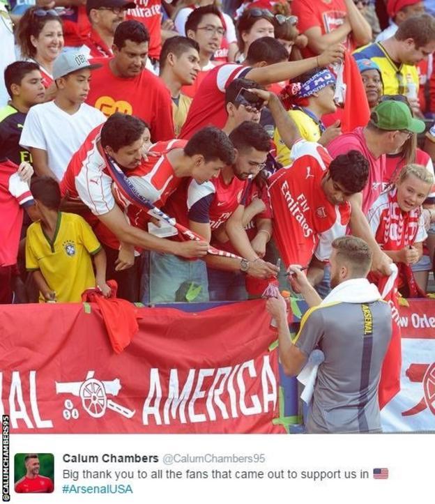 Calum Chambers on Arsenal's tour of the USA