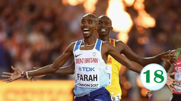 bbc sport advent calendar mo farah wins historic 10 000m. Black Bedroom Furniture Sets. Home Design Ideas