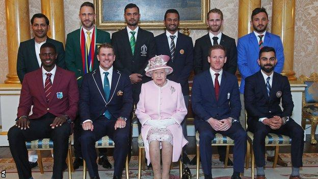 The World Cup captains with the Queen