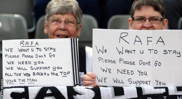 Rafa Benitez stays at Newcastle