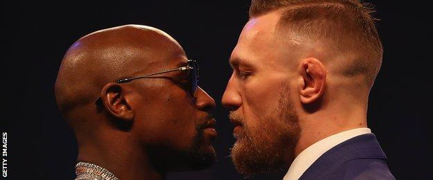 Mayweather and McGregor head-to-head