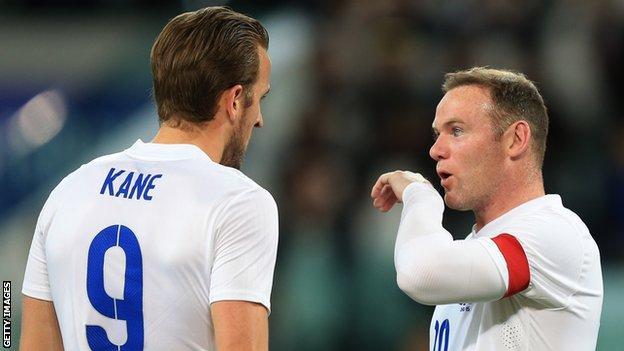 Wayne Rooney and Harry Kane