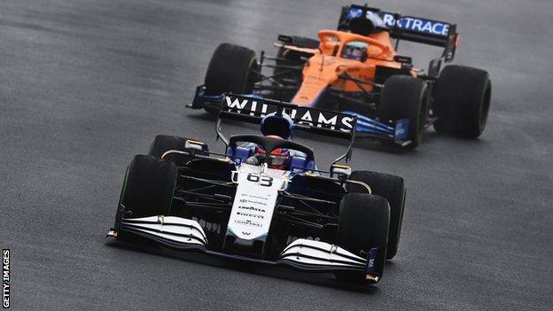 George Russell uit Groot-Brittannië rijdt voor Williams