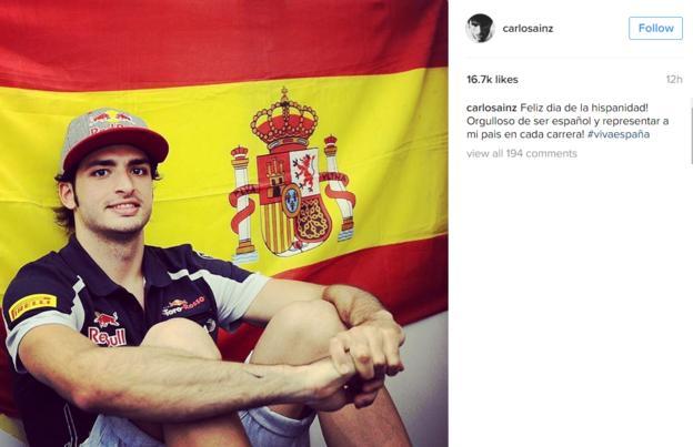 Carlos Sainz instagram post
