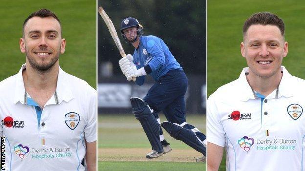 Alex Hughes (left), Mattie McKiernan (centre) and Tom Wood have all signed new deals with Derbyshire