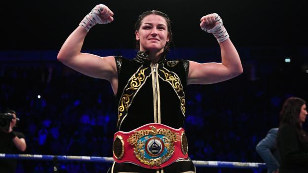 Katie Taylor v Christina Linardatou: Irish boxer wins to become two-weight world champion thumbnail