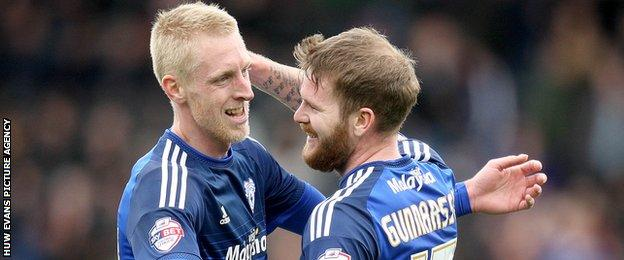 Lex Immers with Aron Gunnarsson
