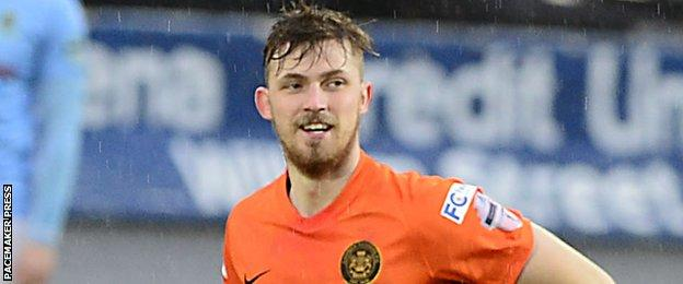 Daniel Kelly was on target in Carrick's 2-1 win at Ballymena last time out