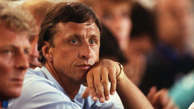Barcelona coach Johan Cruyff