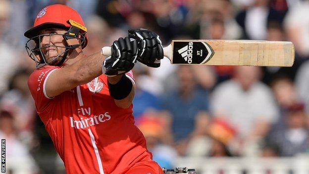Liam Livingstone was part of Lancashire's beaten side in the T20 Blast semi-final defeat by Worcestershire