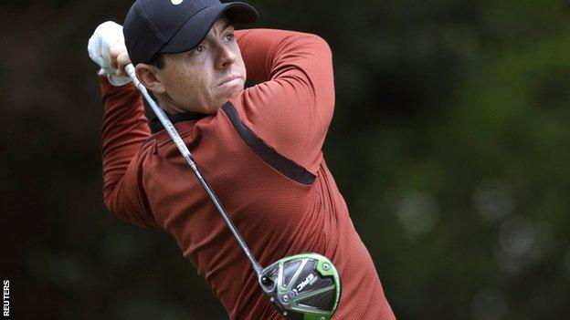 Rory McIlroy at this year's Masters