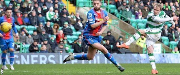 Celtic's Gary Mackay-Steven finds the target