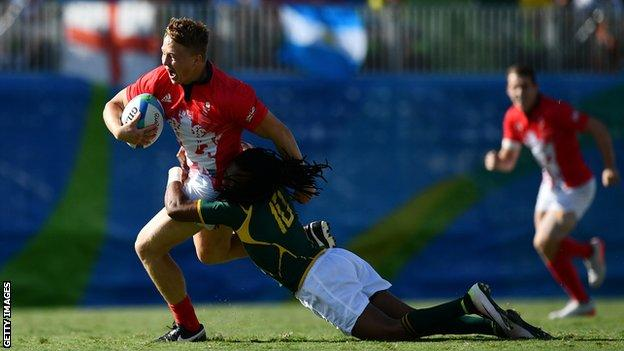 Wales' James Davies was part of the Team GB Sevens side that won silver at the 2016 Olympics in Rio