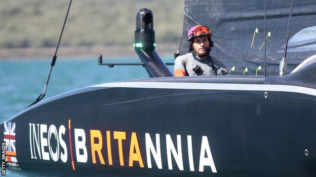 Ben Ainslie in Ineos' boat