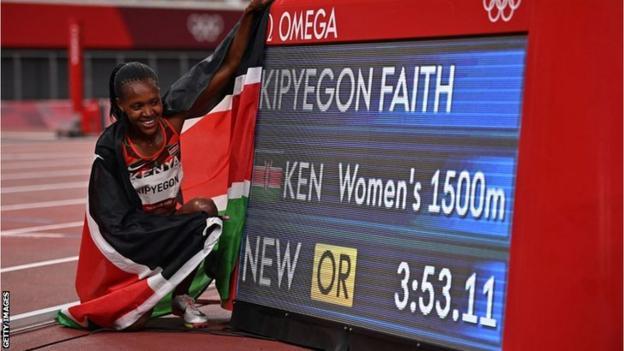 Kenya's Faith Kipyegon