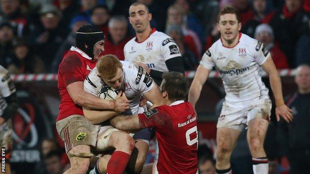Ulster suffered their first home defeat since May 2014 when they lost 9-7 to Munster at Kingspan Stadium