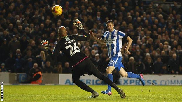 Jamie Murphy scores for Brighton