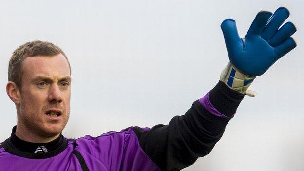 Goalkeeper Andy McNeil