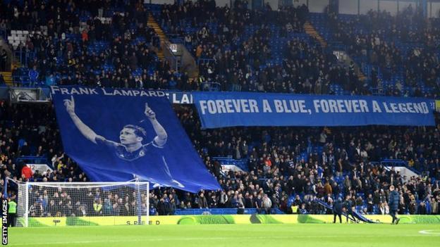 Frank Lampard tribute at Stamford Bridge
