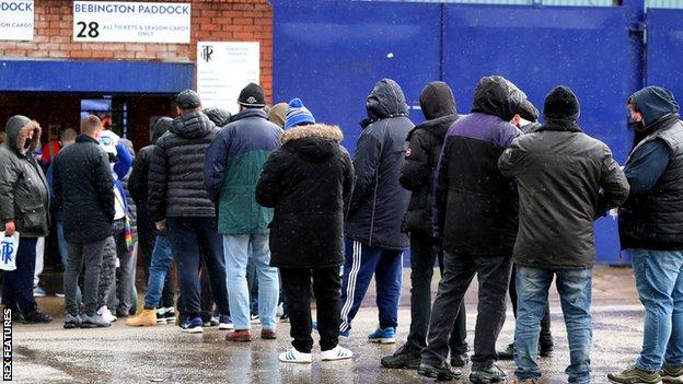 Tranmere fans return to Prenton Park