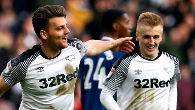 Derby County 3-0 Blackburn Rovers: Louis Sibley and Chris Martin on target in Rams win