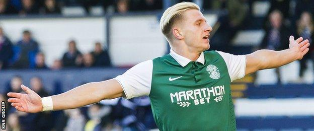 Jason Cummings has scored 14 goals for Hibernian this season