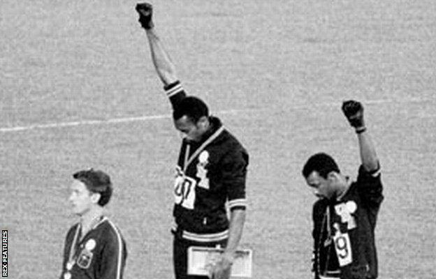 Tommie Smith's black power salute