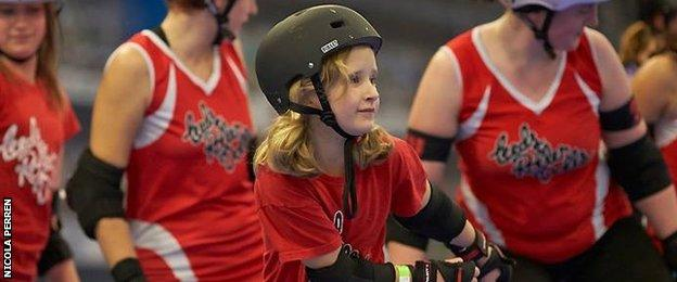 Roller derby skater, Katy