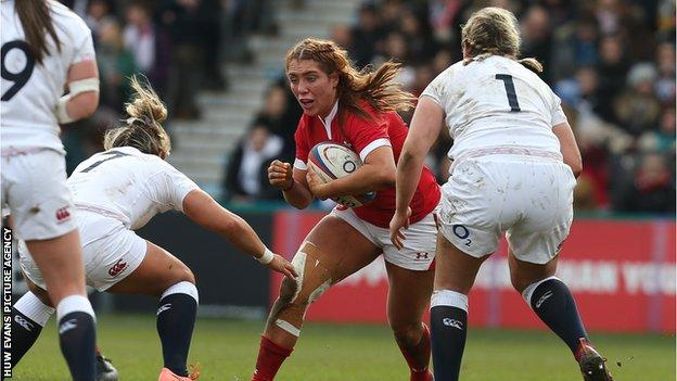 Wales forward Georgia Evans can play at lock or in the back-row