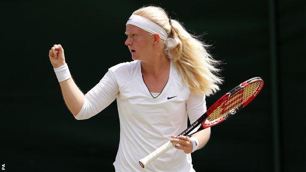 Francesca Jones, British tennis player.