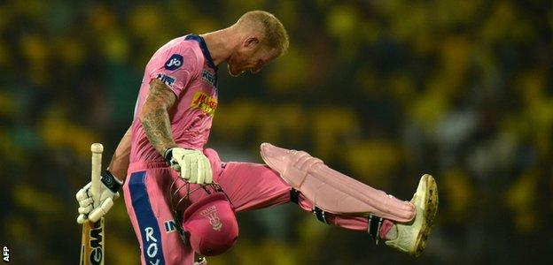 Ben Stokes looking frustrated