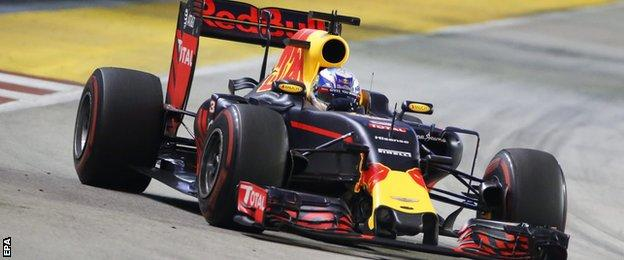 Daniel Ricciardo in action for Red Bull