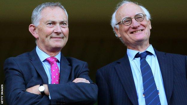 Richard Scudamore and Bruce Buck