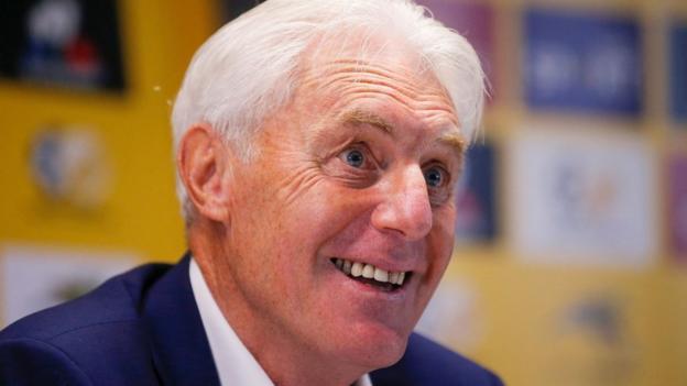 South Africa men's football coach Hugo Broos