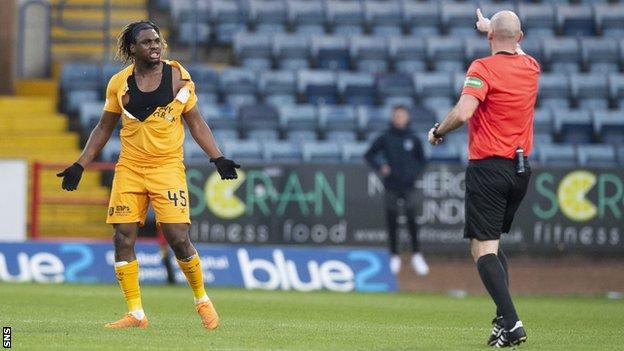 Livingston striker Dolly Menga