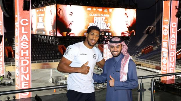 Human rights & 'sportswashing': Why Joshua v Ruiz II in Saudi Arabia is so controversial thumbnail