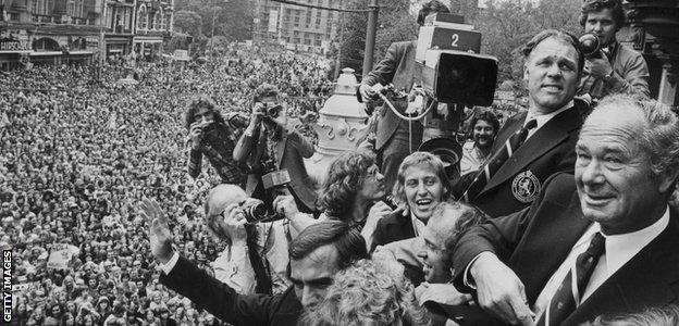 Netherlands returns home after the 1974 World Cup