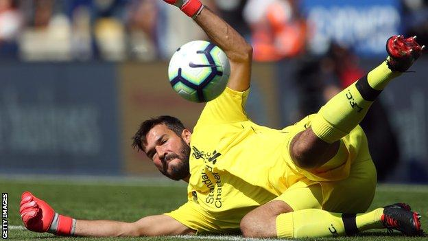 Brazil and Liverpool keeper Alisson Becker