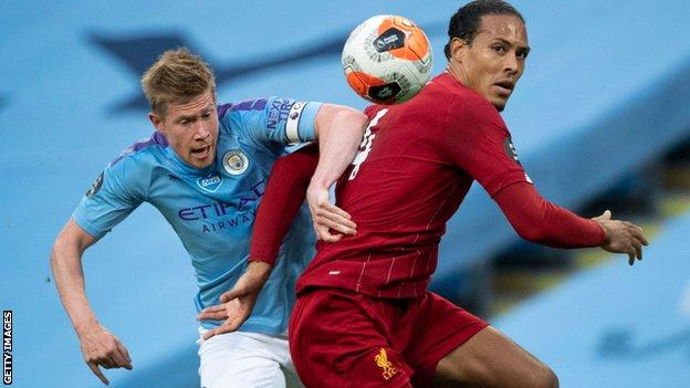 Kevin De Bruyne and Virgil van Dijk