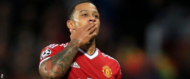Manchester United forward Memphis Depay