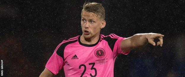 Swansea City left-back Stephen Kingsley made his Scotland debut against France