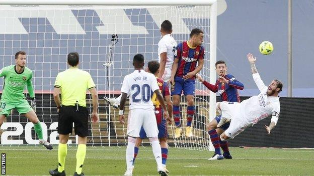 Clement Lenglet's foul on Sergio Ramos