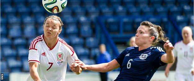 Jo Love has been playing for Scotland since she was 15