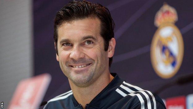 Real Madrid manager Santiago Solari