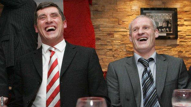 Declan Devine managed Derry to their 2012 FAI Cup triumph when Paul Hegarty was his assistant