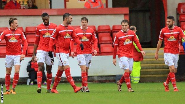 Until Saturday's victory over Rochdale, Crewe had not won since 28 November