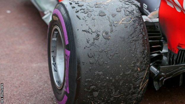 Daniel Ricciardo's tyres