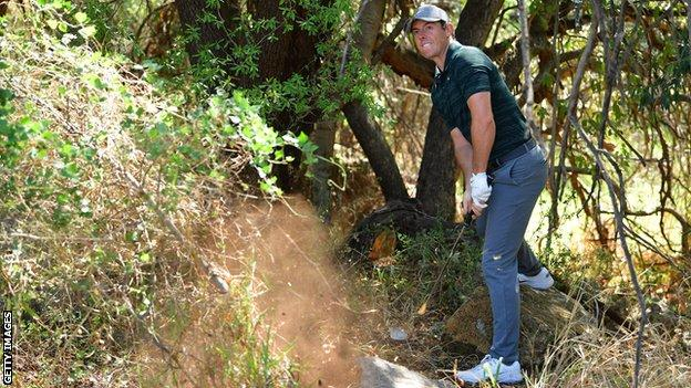 Rory McIlroy playing at the Nedbank Challenge